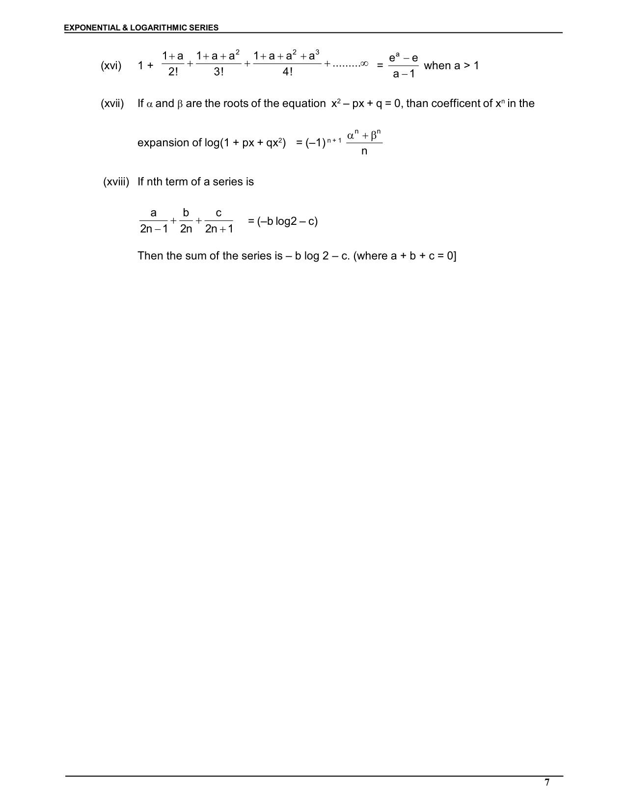 Exponential & Logarthmic Function