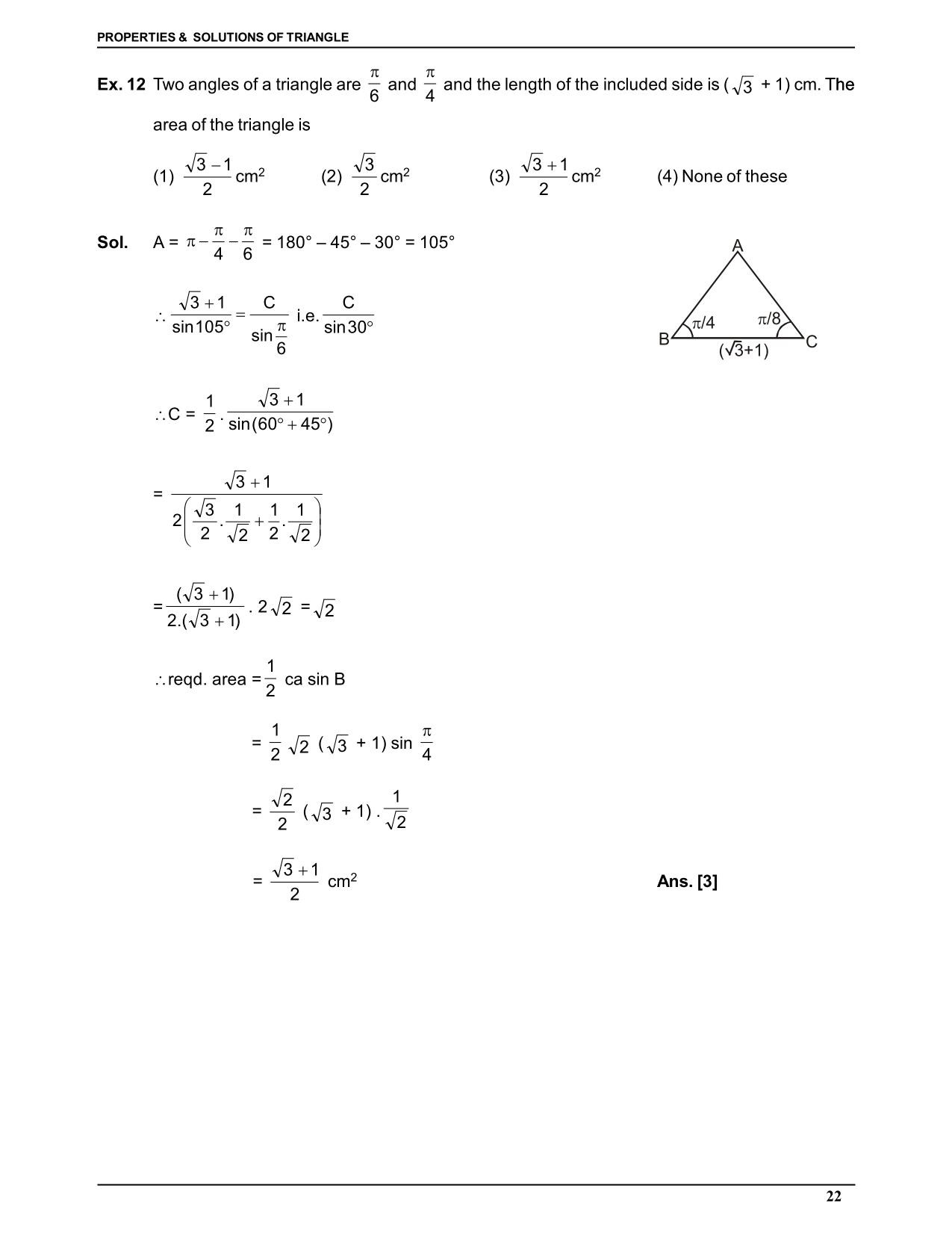 Properties and Solution of Triangle