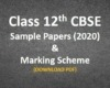 Saple papers & marking Scheme Class 12