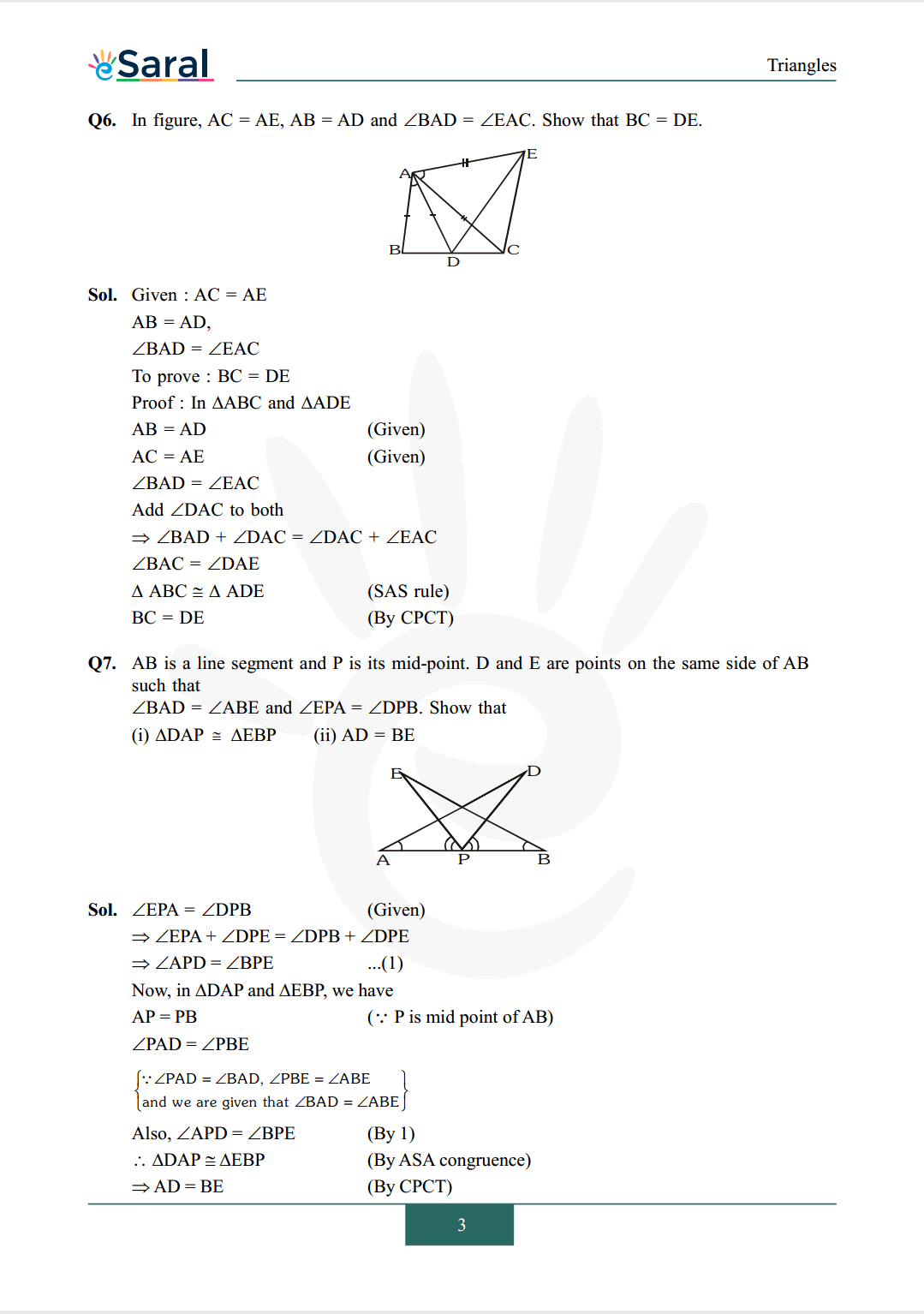 Class 9 maths chapter 7 exercise 7.1 solutions Image 3
