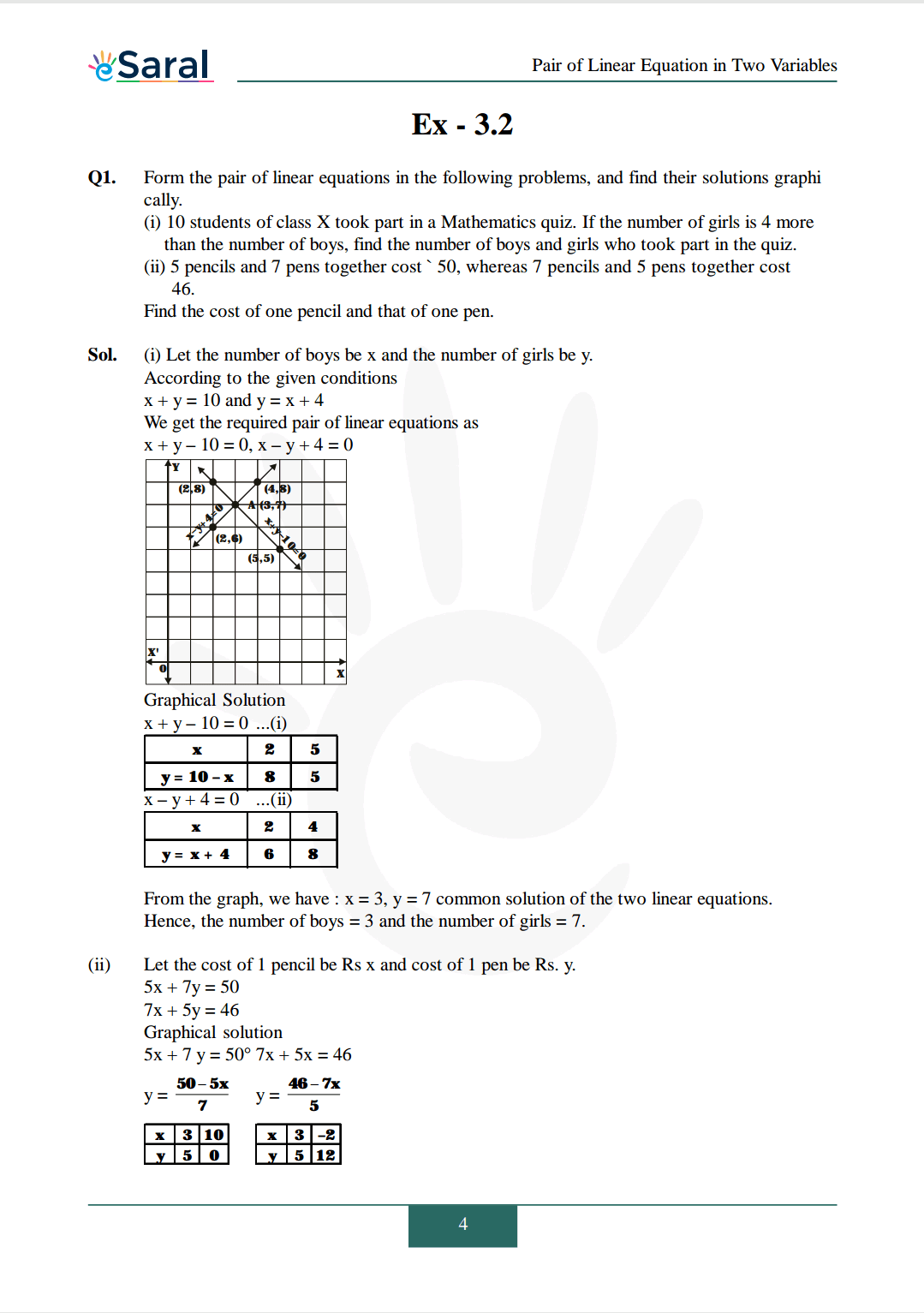 NCERT Solutions for Class 10 Maths chapter 3 Image 5