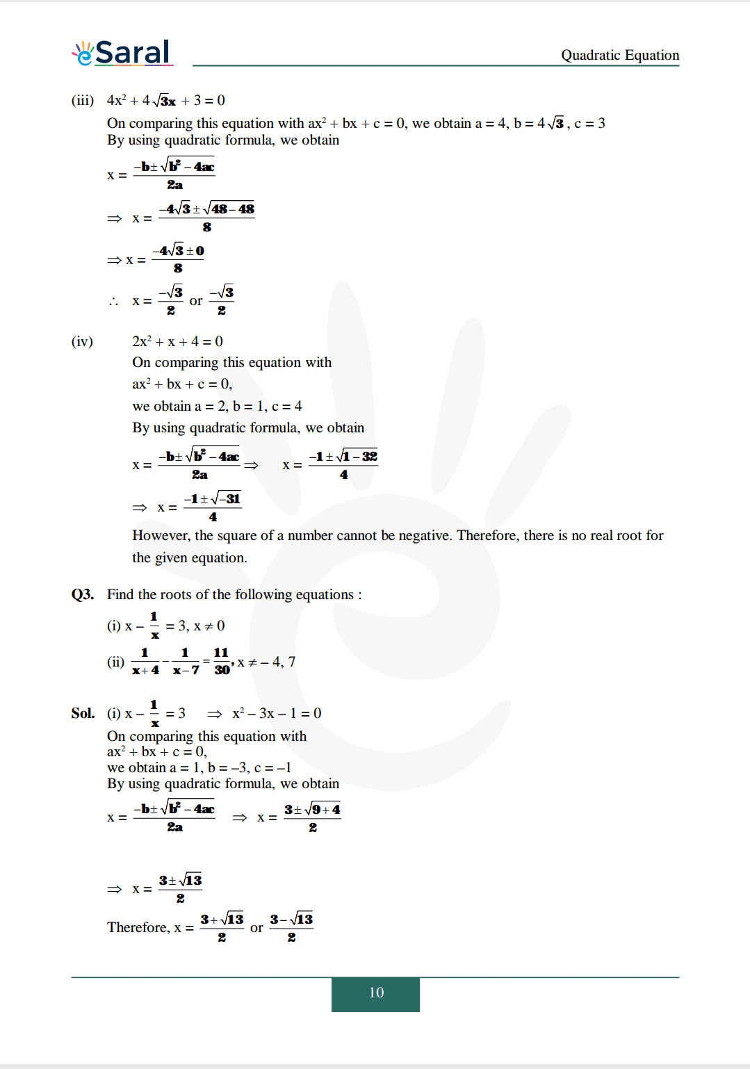 Class 10 Maths Chapter 4 exercise 4.3 solutions Image 3