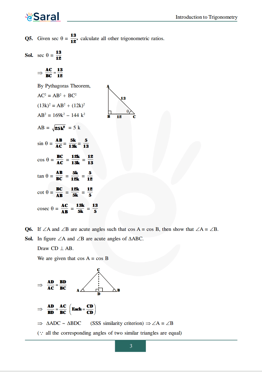 Class 10 Maths Chapter 8 exercise 8.1 solutions image 3