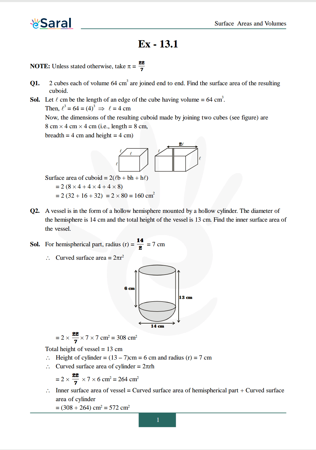 NCERT Solutions for Class 10 Maths chapter 13 Image 2