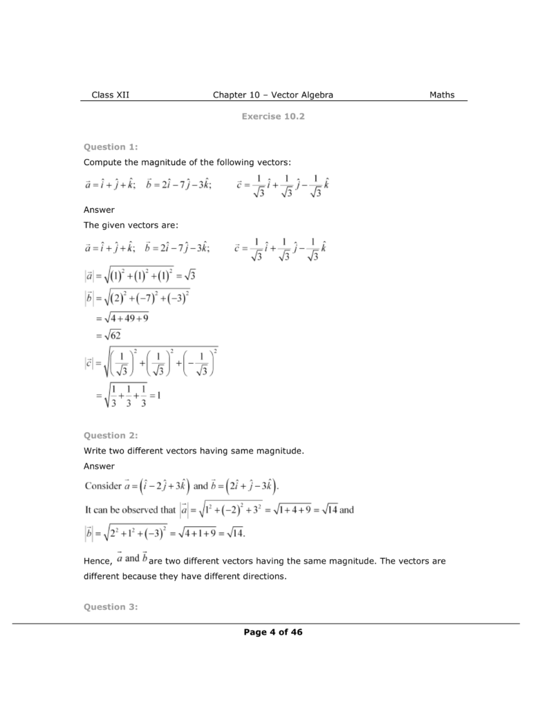 NCERT Class 12 Maths Chapter 10 Exercise 10.2 Solutions Image 1