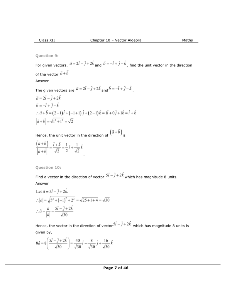NCERT Class 12 Maths Chapter 10 Exercise 10.2 Solutions Image 4