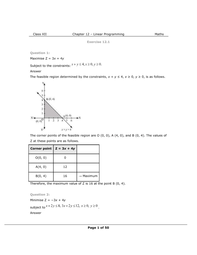 NCERT Class 12 Maths Chapter 12 Exercise 12.1 Solutions Image 1