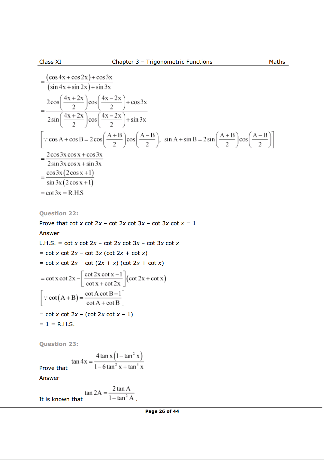 Class 11 Maths Chapter 3 Exercise 3.3 Solutions Image 13