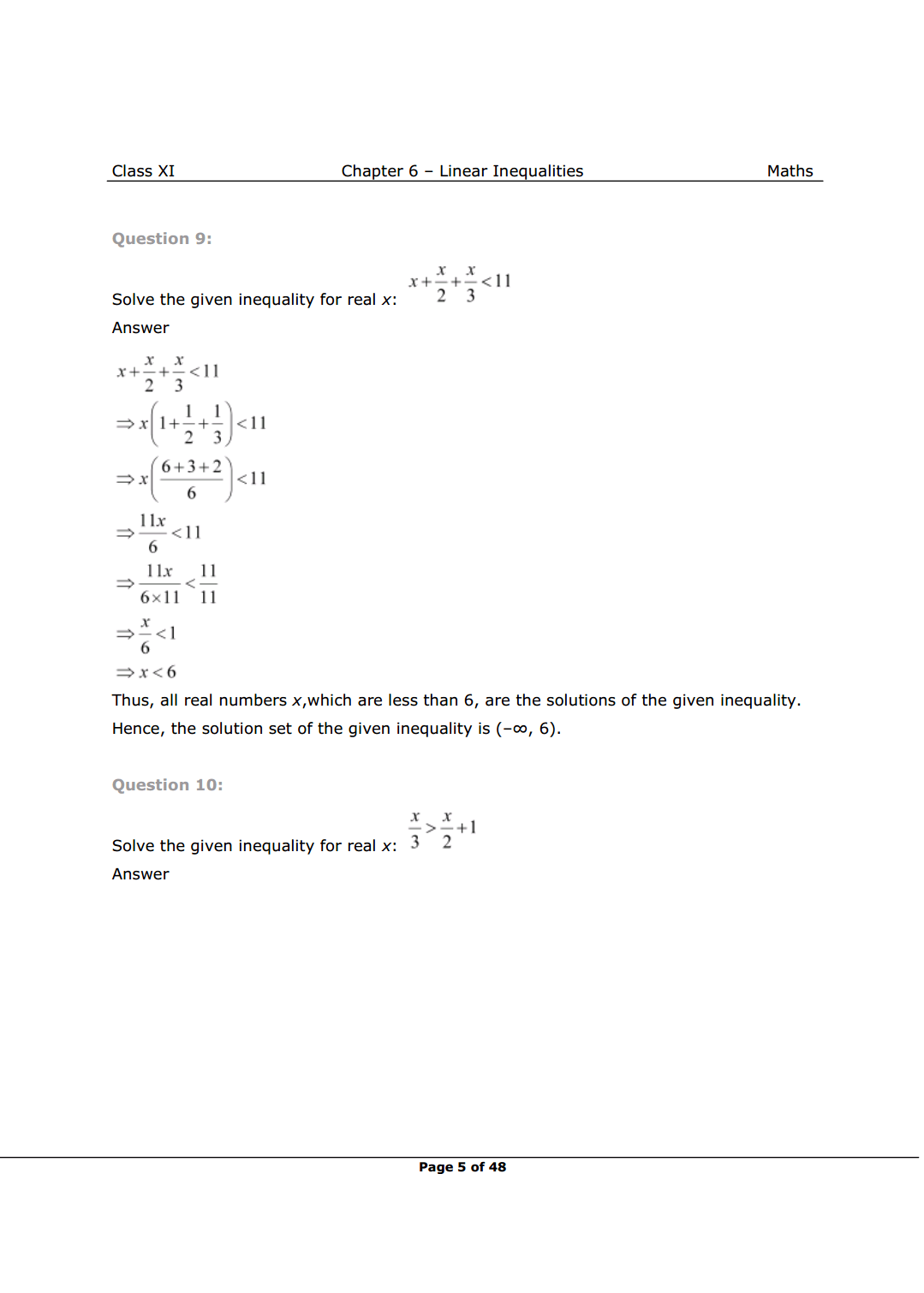 NCERT Solutions for Class 11 Maths chapter 6 Image 5