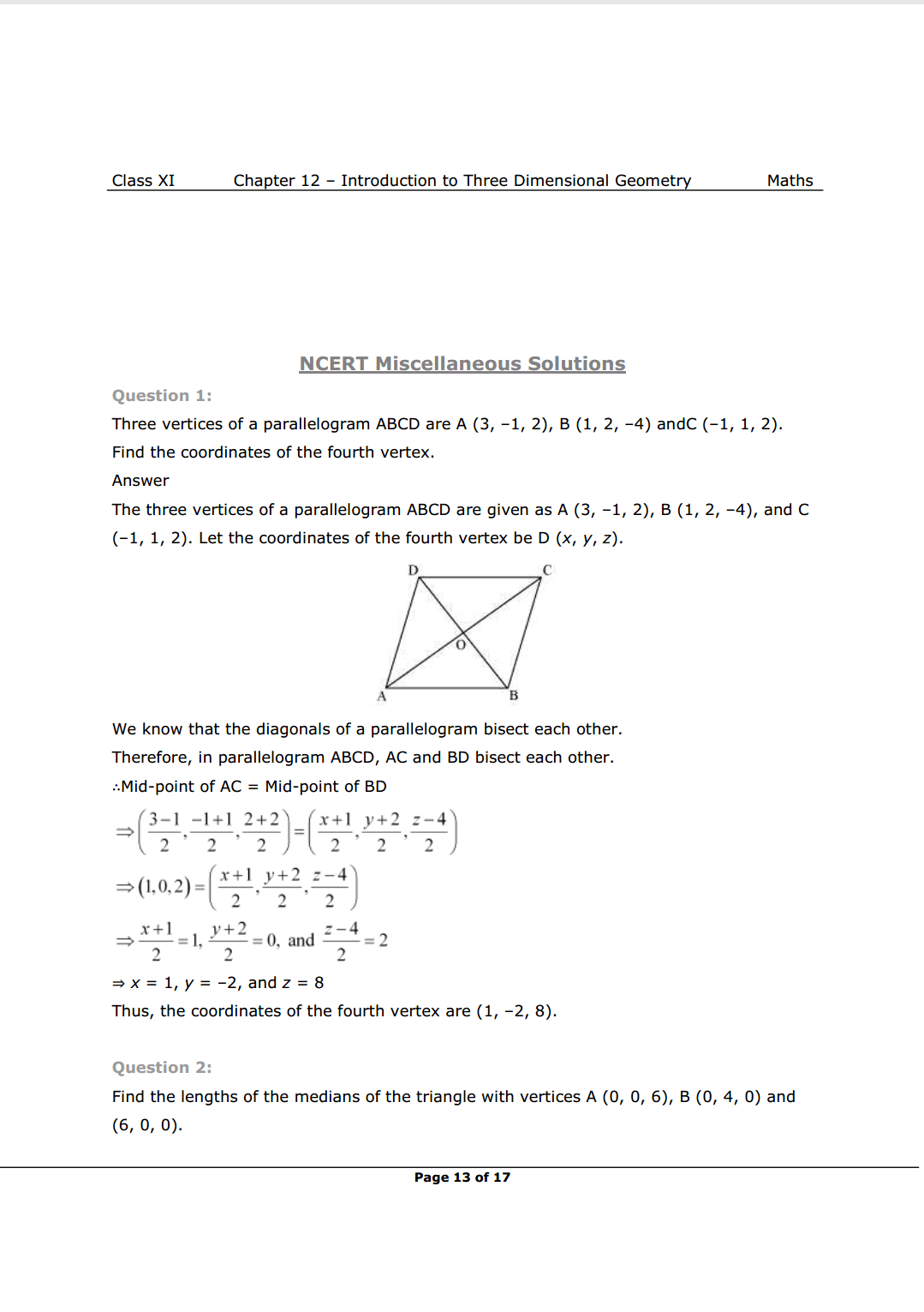 NCERT Solutions For Class 11 Maths Chapter 12 Miscellaneous Exercise Image 1